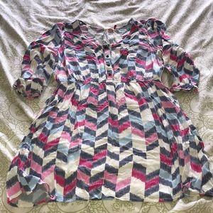 LIKE NEW RED CAMEL DRESS W/POCKETS! SZ L